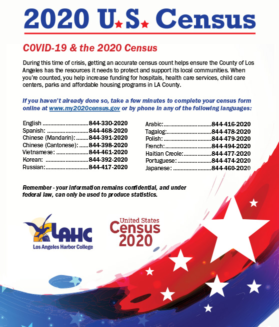 u.s. census and covid19 information flyer