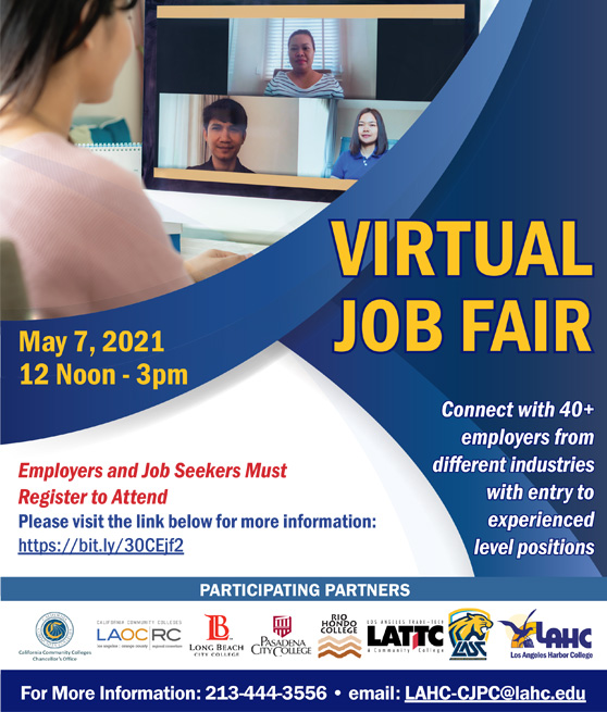 2021 spring job fair students flyer graphic