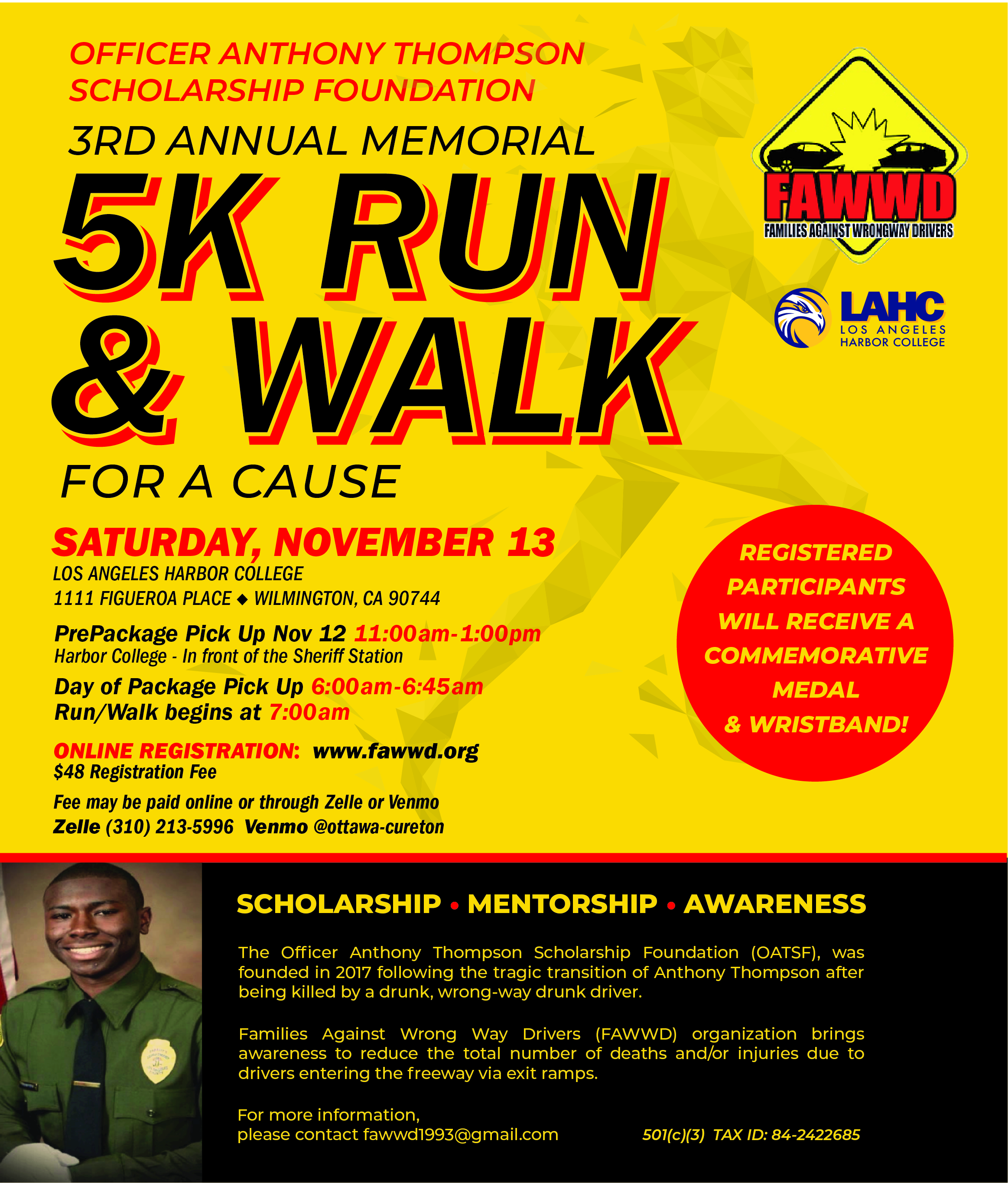5k run and walk for a cause flyer link