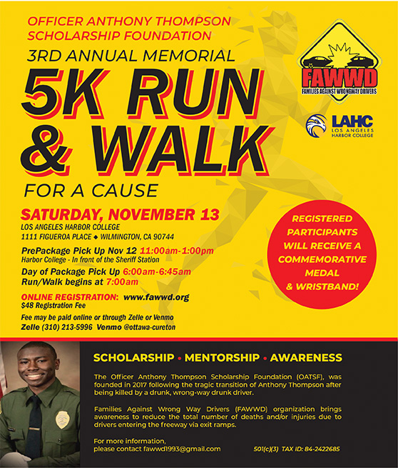 5k run and walk for a cause flyer graphic
