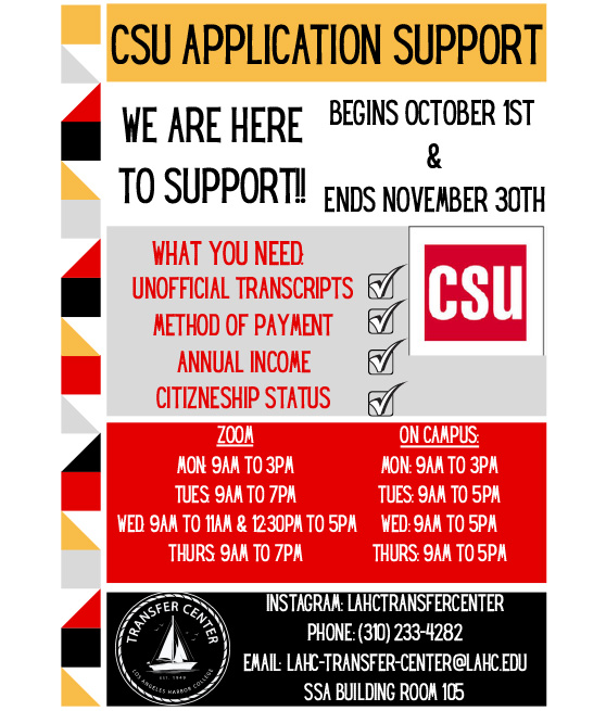 csu application support 2021 flyer graphic