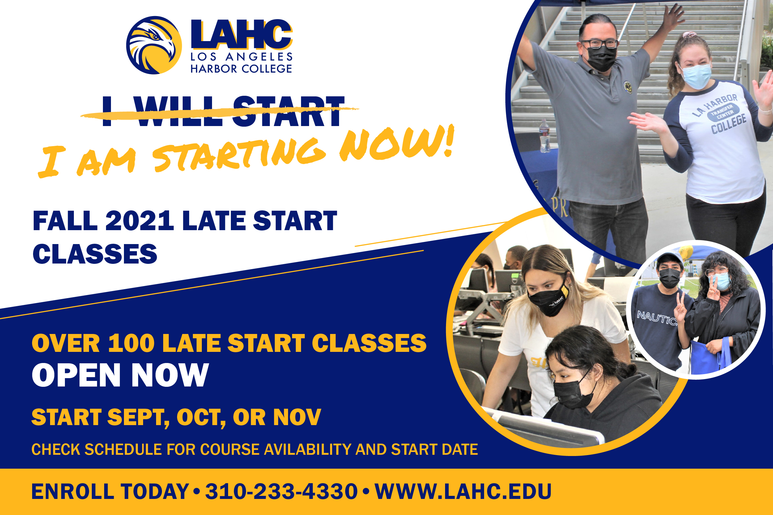 late start classes fall graphic