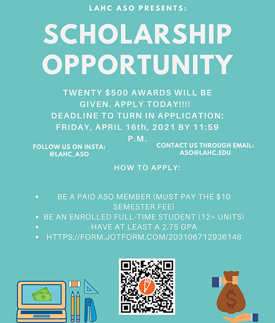 LAHC ASO SCHOLARSHIP OPPORTUNITY graphic