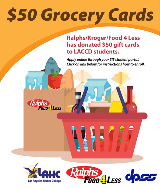 ralphs kroger food4less and dpss donate 50 dollar gift card for groceries flyer