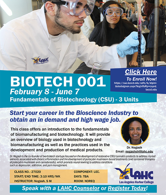 lahc biotech classes flyer graphic