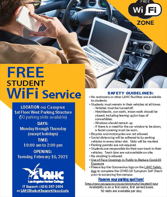 free student wifi service flyer graphic
