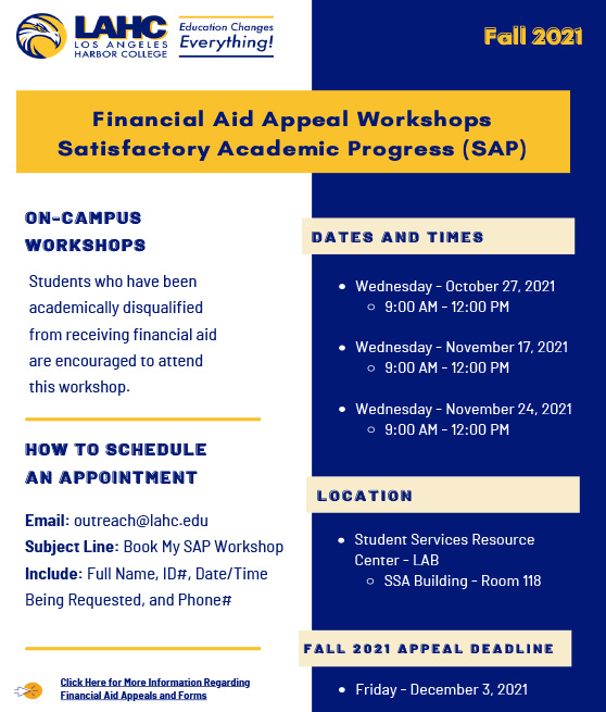 sap workshops fall 2021 flyer graphic