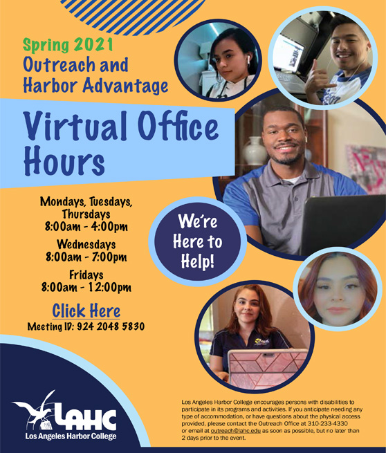 virtual office hours flyer graphic