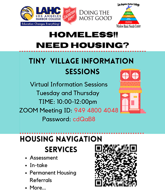 tiny village housing session flyer link graphic