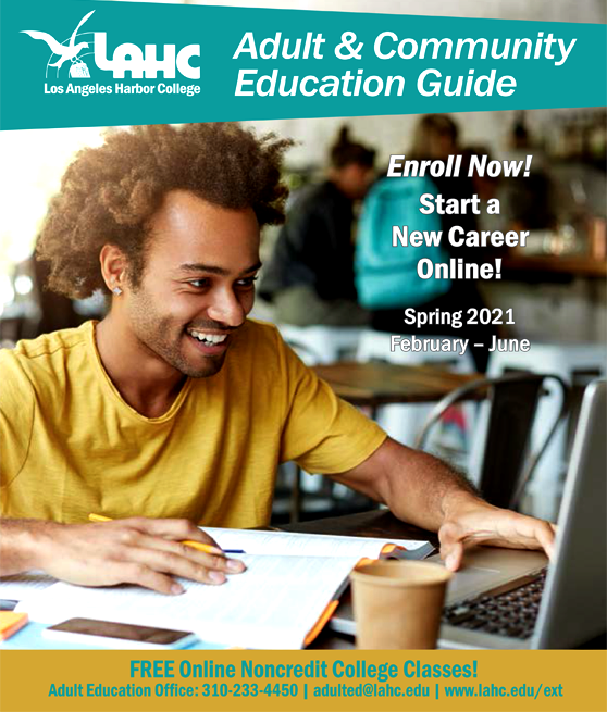 community education catalog spring 2021 graphic