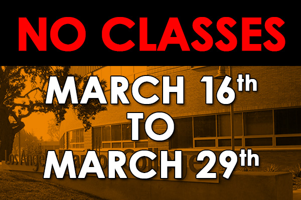 no classes march 16 to march 29